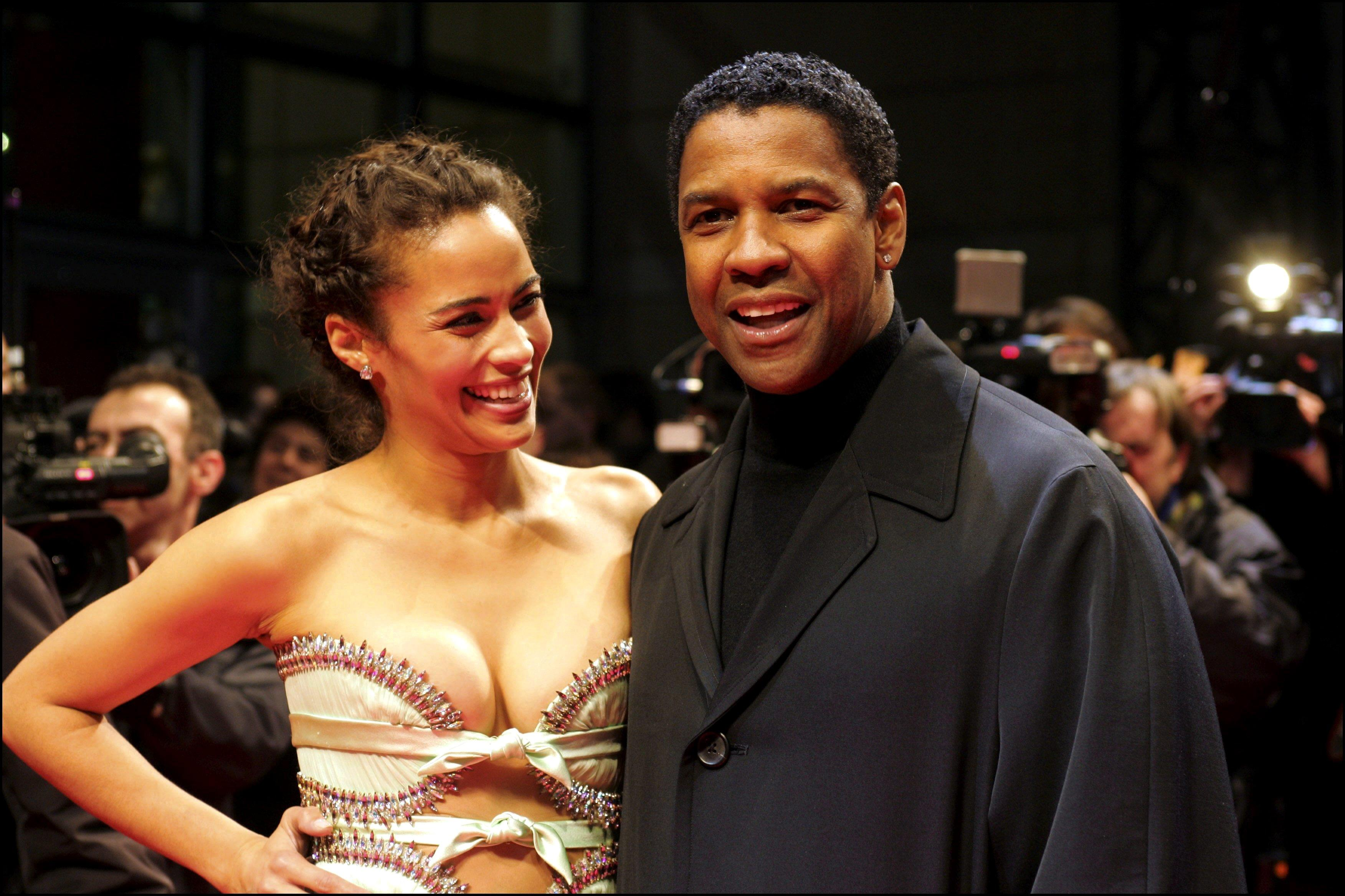 Denzel Washington, Paula Patton, Tony Scot and Jerry Bruckheimer present their new movie ' Deja Vu ' at the cinema Kinepolis of Lomme, in the north of France in Lomme, France on December 06, 2006