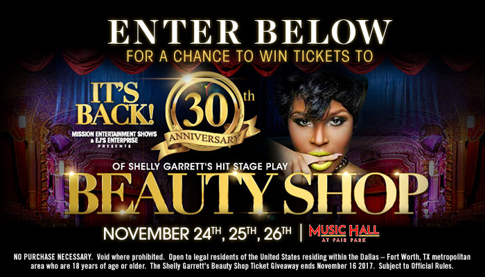 Shelly Garrett's Beauty Shop Ticket Giveaway_Enter-to-win Contest_KSOC_RD_Dallas_November 2017