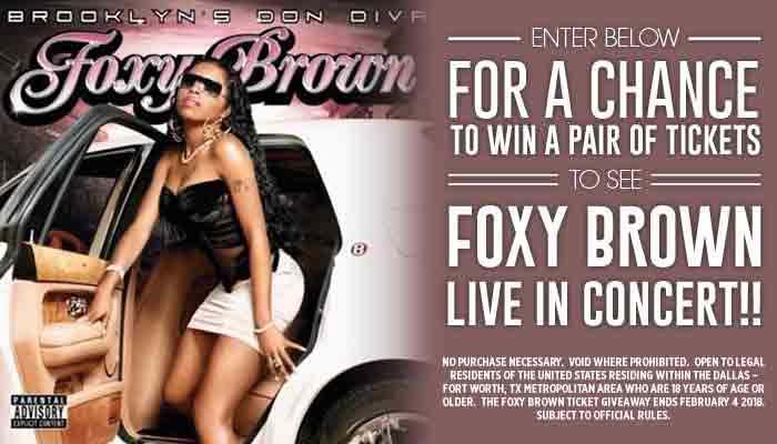 Foxy Brown Ticket Giveaway_Enter-to-win Contest