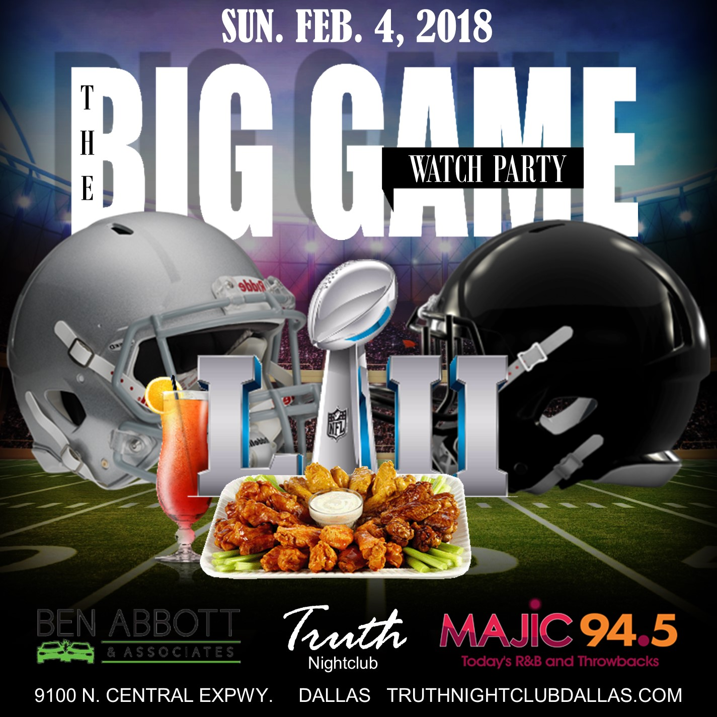 The Big Game Watch Party At Truth Nightclub