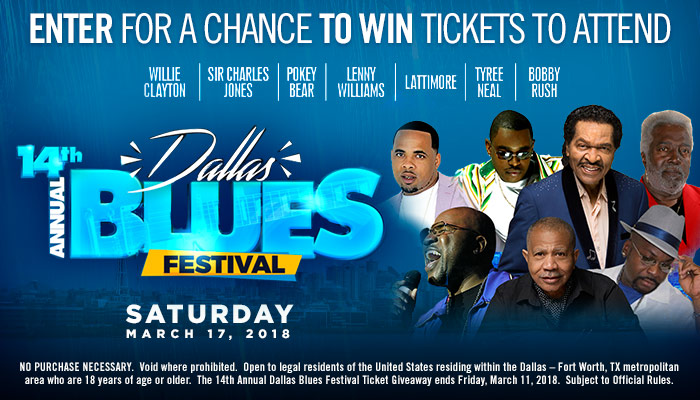 14th Annual Dallas Blues Festival Ticket Giveaway Sweepstakes