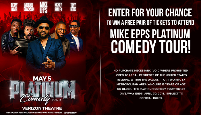 Platinum Comedy Tour_Enter-to-win Contest_KBFB_KZMJ_RD_Dallas_March 2019