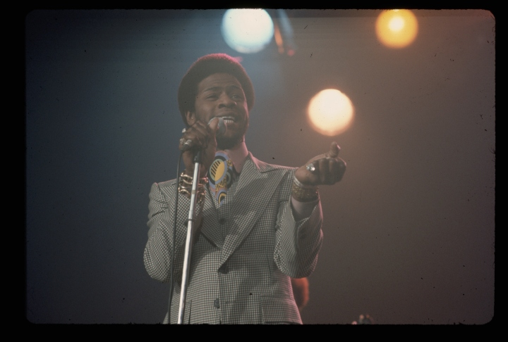 Singer Al Green Singing Under Bright Lights