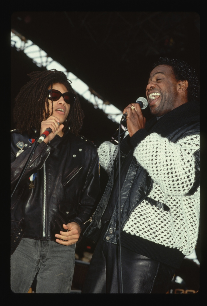 Singers Terence D'Arby and Al Green Performing