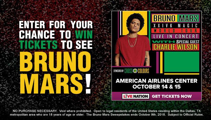 Bruno Mars 2018 (KZMJ) Online Giveaway