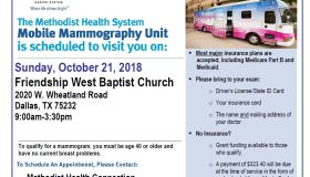 Get a Mammogram At Friendship West baptist Church