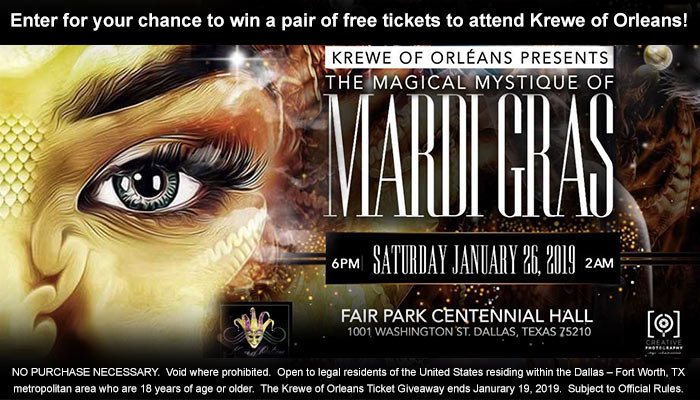 Krewe of Orleans Mardi Gras Ball Ticket Giveaway Sweepstakes