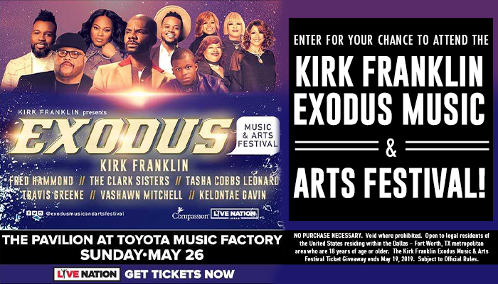 Kirk Franklin Exodus Music & Arts Festival_Contest_KZMJ_RD_January 2019