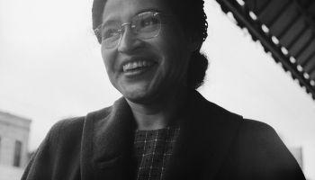 Civil Rights Leader Rosa Parks Smiling