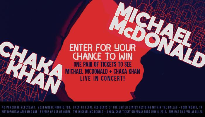 Michael McDonald + Chaka Khan_RD Dallas_February 2019