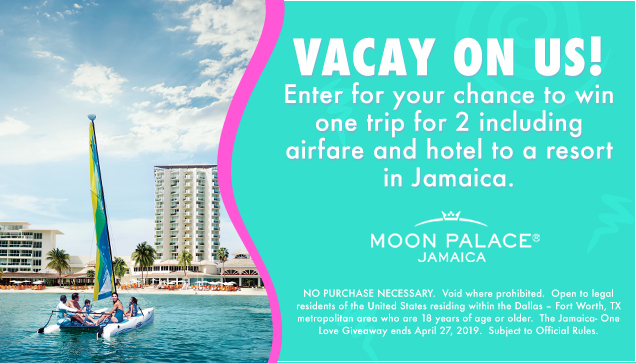 Jamaica- One Love ticket Giveaway Sweepstakes