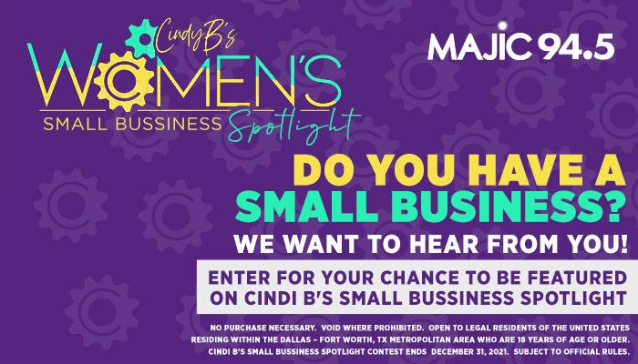 Cindi B's Small Business Spotlight_RD Dallas KZMJ_October 2019
