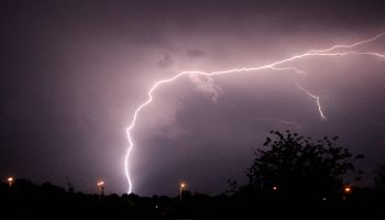 Lightning strikes at Leigh-on-Sea