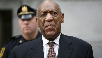Bill Cosby arriving at the Montgomery County courthouse