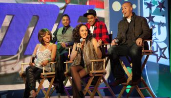 Cast Of 'The Game' Visits BET's '106 & Park' - January 11, 2011
