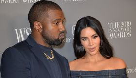 Kanye West, Kim Kardashian West at arriv...