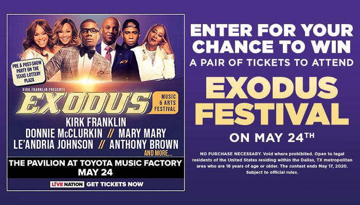 Exodus Festival Online Contest_RD Dallas KZMJ_January 2020